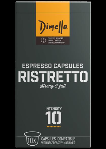 Кафе капсули RISTRETTO на Dimello